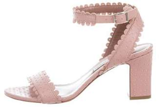 Tabitha Simmons Laser-Cut Ankle-Strap Sandals Pink Laser-Cut Ankle-Strap Sandals