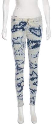 Mother Tie-Dye Mid-Rise Pants