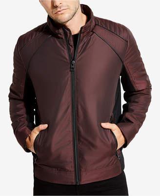 GUESS Men's Iridescent Moto Jacket