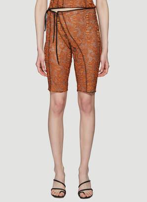 Ottolinger Lace Shorts in Orange
