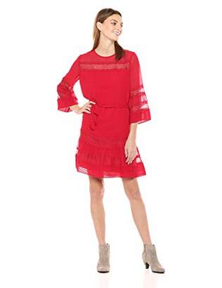 Ella Moon Women's Standard 3/4 Pintucked Dress with Bell Sleeve