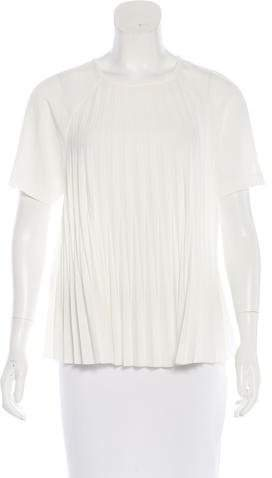 Kate Spade New York Pleated Short Sleeve Blouse