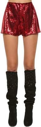Philosophy di Lorenzo Serafini High Waist Sequined Shorts