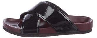 Celine Patent Leather Slide Sandals
