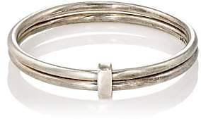 Title of Work Men's Double-Band Ring - Silver