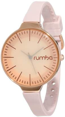 RumbaTime Women's 'Orchard 35MM Gold ' Quartz Tone and Silicone Casual Watch