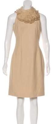 Robert Rodriguez Wool Sheath Dress