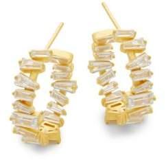 Crystal & Silver Hoop Earrings