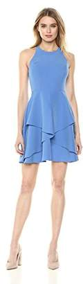 Nicole Miller New York Women's fit and Flare Cross-Back Dress