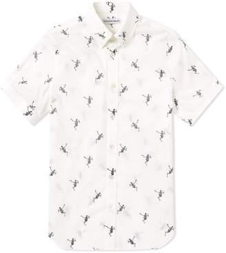 Alexander McQueen Short Sleeve Dancing Skeleton Printed Shirt