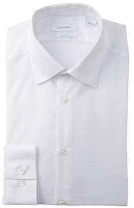 Calvin Klein Woven Solid Slim Fit Dress Shirt
