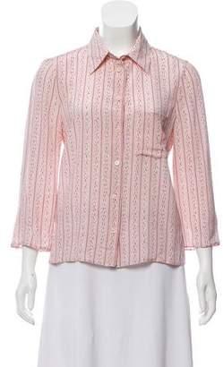 Prada Printed Silk Button-Up