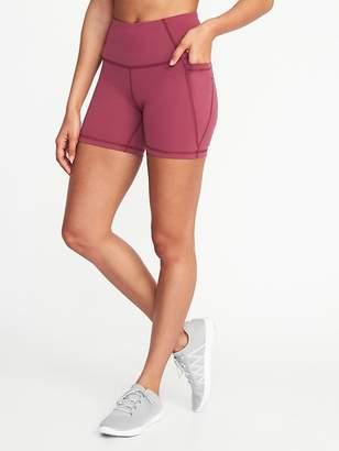 "Old Navy High-Rise Side-Pocket Compression Shorts for Women (5"")"