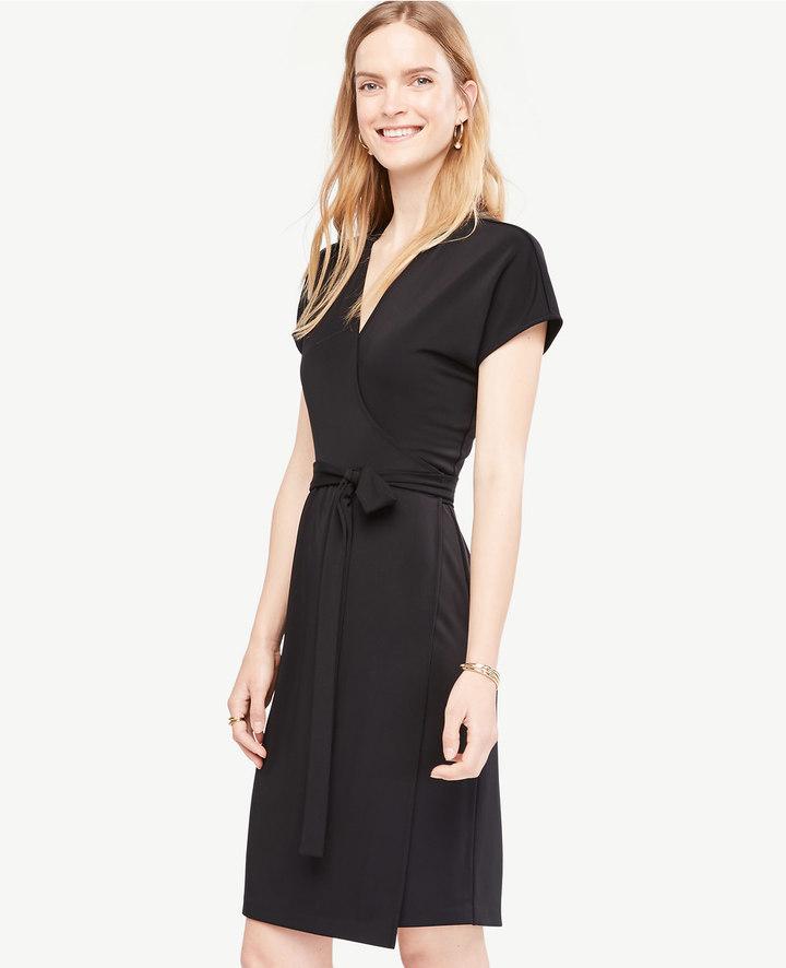 Short Dolman Sleeve Wrap Dress