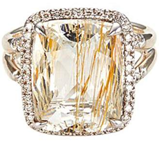 John Hardy 'Magic Cut' diamond rutilated topaz silver ring