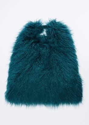 MM6 MAISON MARGIELA Faux Fur Triangle Bag