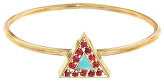 Jennifer Meyer Ruby and Turquoise Inlay Triangle Ring