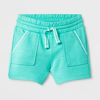 Cat & Jack Toddler Girls' Knit Cargo Shorts Green
