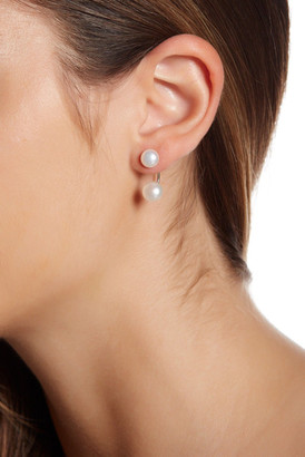 Argento Vivo Sterling Silver Front & Back 7-8mm Freshwater Pearl Earrings $44 thestylecure.com