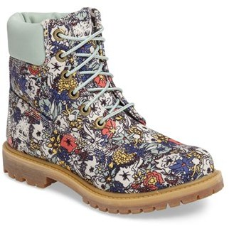 Women's Timberland 6 Inch Premium Floral Print Boot $149.95 thestylecure.com
