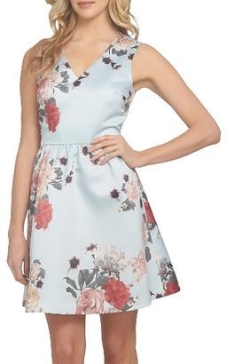 Women's Cece Rose Fit & Flare Dress $148 thestylecure.com