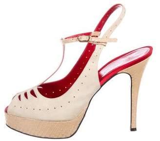 Dolce & Gabbana Suede Platform Pumos