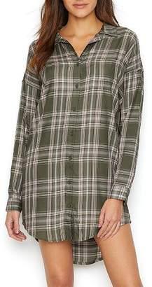 PJ Salvage Plaid Woven Sleep Shirt