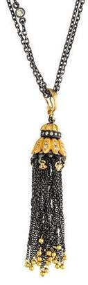 Sara Weinstock Diamond Tassel Pendant Necklace