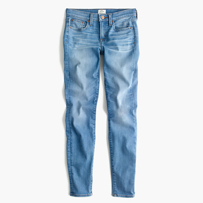 "J.Crew Petite 8"" toothpick jean in Chimney wash"