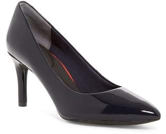 Rockport Total Motion Pointed Toe Patent Leather Pump - Wide Width Available