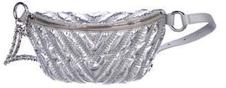 Chanel 2017 Metallic Chevron Waist Bag