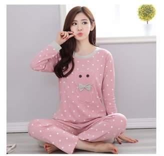 Yyixianma Brand Spring Autumn Long Sleeved Cotton Women s Pajamas Set  Cartoon Sleepwear Girls Pyjamas Mujer Lady d30cf5a99