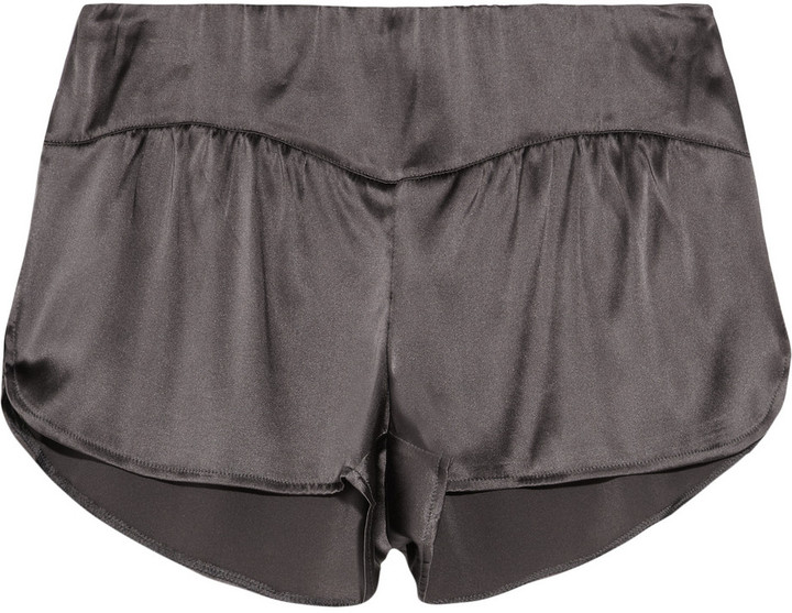 Top Secret Brief Affair silk-satin shorts