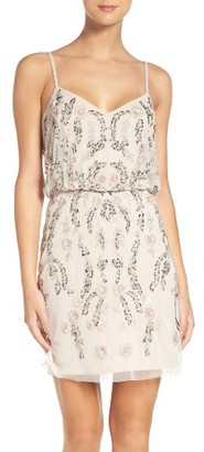 Women's Adrianna Papell Beaded Blouson Dress $249 thestylecure.com