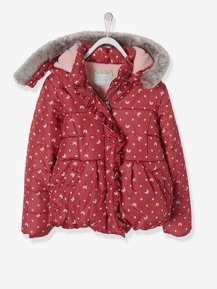 Vertbaudet Printed Padded Jacket with Fleece Lining, for Girls