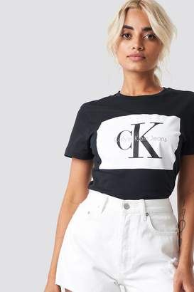 Calvin Klein Tanya 40 Crew Neck Tee Black/Bright White