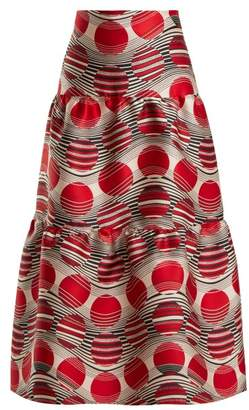 RED Valentino Optic Jacquard Skirt - Womens - Red Multi