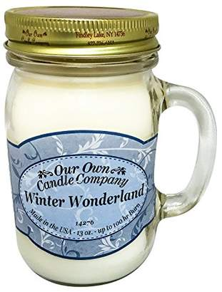 Our Own Candle Company Winter Wonderland Scented 13 Ounce Mason Jar Candle