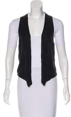 L'Agence Embellished Silk Vest