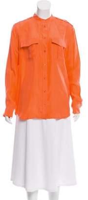 Equipment Long-Sleeve Silk Blouse