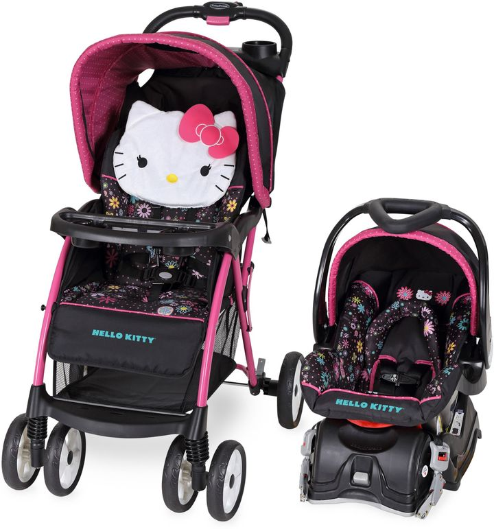 Baby Trend Baby Trend® Venture Travel System in Hello Kitty Daisy Swirl