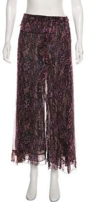 IRO Printed Midi Skirt