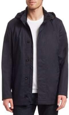 Ermenegildo Zegna Men's Super-Light Hooded Jacket - Blue - Size 52 (42) R