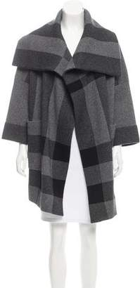 Burberry Checked Wool-Blend Coat