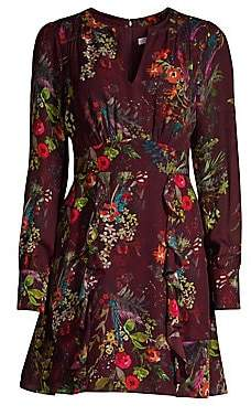 Parker Women's Brooke Ruffled Floral Dress - Size 0