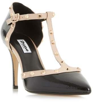 Dune Black 'Cliopatra' Studded T-Bar Court Shoes