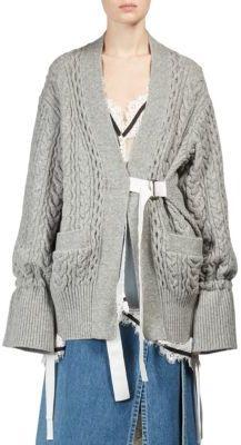 Sacai Wool Knit Cardigan