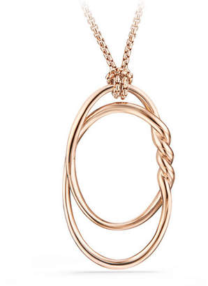 David Yurman 47mm Continuance 18K Rose Gold Pendant Necklace