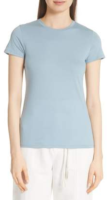 Vince Essential Pima Cotton Crewneck Top