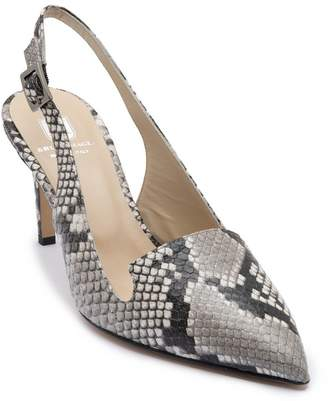 Bruno Magli M by Aurora Snakeskin Embossed Leather Slingback Pump